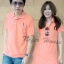 เสื้อคู่รักโปโลสีโอรส มีไซส์ XL ไซส์ใหญ่ thumbnail 1