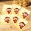 ถุงเบเกอรี่ ถุงขนมปัง แบบมีเทปกาว รูปลิง 100 ใบ/ห่อ (10*10+3 cm.) thumbnail 1