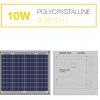 แผงโซล่าเซลล์ Solar Cell 10W Poly