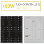 แผงโซล่าเซลล์ Solar Cell 180W Mono