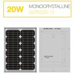 แผงโซล่าเซลล์ Solar Cell 20WMono