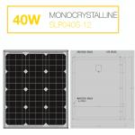 แผงโซล่าเซลล์ Solar Cell 40W Mono
