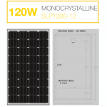แผงโซล่าเซลล์ Solar Cell 120W Mono
