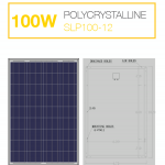 แผงโซล่าเซลล์ Solar Cell 100W Poly