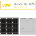 แผงโซล่าเซลล์ Solar Cell 30W Mono