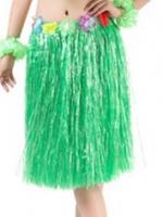 กระโปรงฮาวาย กระโปรงเชือกฟางเขียว รุ่นหนาพิเศษ ยาว 60 cm