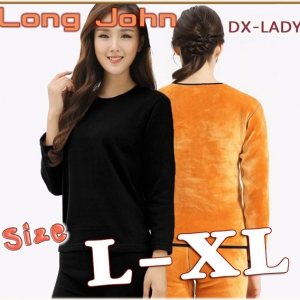 ลองจอห์นกันหนาวหญิง สีดำ L XL