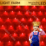 ไฟตาข่าย LED สีแดง ขนาดเล็ก 1.5 x 1.5 m.