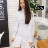 ชุดเดรสเกาหลีพร้อมส่ง Dress สวยลงตัวในชุดเดียว กระดุมเกร๋ๆ