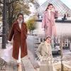 เสื้อผ้าเกาหลีพร้อมส่ง Overcoat เนื้อผ้าสำลีสีพื้นเนื้อแน่น