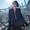 ชุดเดรสเกาหลีพร้อมส่ง Minidress เรียบหรูผ่าหน้าแต่งเพชร