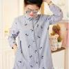 เสื้อผ้าเกาหลีพร้อมส่ง เสื้อกึ่งเดรสงานญี่ปุ่นปักน้องแมวน่ารักมากๆ
