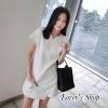 SET 2 ชิ้น : เสื้อ+กางเกง สีขาวสไตล์ เรียบหรู