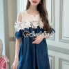 Chic Open Shoulder Lace Strap Cotnim Dress