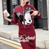 เสื้อผ้าเกาหลีพร้อมส่ง We Love Mickey Chic Jackskirt Set