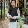 เดรสเกาหลีผ้าชีฟองอย่างดีแขนยาวทรงปล่อย