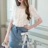 เสื้อผ้าเกาหลีพร้อมส่ง Moto Dazzle Mini Skirt Set