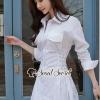 เสื้อผ้าเกาหลีพร้อมส่ง สวยเก๋ลุคสาวสมาร์ทด้วยเดรสเชิ้ตคอปก