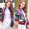 เสื้อผ้าเกาหลีพร้อมส่ง เสื้อแจ๊คเกทพิมพ์ลาย สีสวยสด