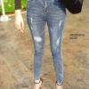 กางเกงยีนส์เอวสูง ขาดถากๆสวยมาก