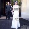 ชุดเดรสเกาหลีพร้อมส่ง White Lady Bland Elegant Maxi Dress