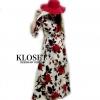 ชุดเดรสเกาหลีพร้อมส่ง Maxi Dress พิมพ์ลายดอกกุหลาบ