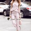 เสื้อผ้าเกาหลีพร้อมส่ง T-Shirt Lace Sweet Pastel Set