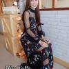 ชุดเดรสเกาหลีพร้อมส่ง Maxi Dress ทรงสวย ใส่สบาย ชิวๆซีทรู