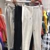 เสื้อผ้าเกาหลีพร้อมส่ง กางเกงขายาวทรงวอร์ม