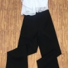 เสื้อผ้าแฟชั่นพร้อมส่ง Jumpsuit ขายาว มีเสื้อตัวสั้นสายเดียวมีซับและซิป