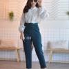 เสื้อผ้าเกาหลีพร้อมส่ง กางเกงขายาว งานHigh-end ผ้าตัวนี้ดีมากสีเรียบสีสวยนิ่ม