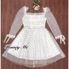 ชุดเดรสเกาหลีพร้อมส่ง Dressผ้าชีฟอง3โทนสีขาว สีชมพู และสีดำ