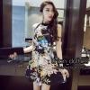 ชุดเดรสเกาหลีพร้อมส่ง Mini dress คอกลม แขนกุด