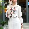 ชุดเดรสเกาหลีพร้อมส่ง Chic Vee Bohemian Creamy Dress