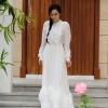 ชุดเดรสเกาหลีพร้อมส่ง Dress ยาว คอกลมแขนยาว