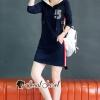 เสื้อผ้าแฟชั่นเกาหลีพร้อมส่ง Dress Hood Chic Chic Sporty Style