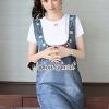 เสื้อผ้าเกาหลีพร้อมส่ง Star pendant T-shirt Splitty Skirt Bibby Set