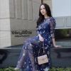 ชุดเดรสเกาหลีพร้อมส่ง Dress SRS SS17 ปักลายดาวเลื่อมทั้งตัว