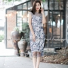 ชุดเดรสเกาหลีพร้อมส่ง ชุดเดทออกงานดูสวยๆเก๋ๆลายดอกทรงสวยดีไซด์สวยหรู