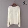 เสื้อผ้าเกาหลีพร้อมส่ง Knit sweater คอวี ไหมพรมเนื้อแน่นอย่างดี