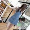เสื้อผ้าเกาหลีพร้อมส่ง เอี๊ยมยีนส์กระโปรงสั้นน่ารัก