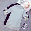 ชุดเดรสเกาหลีพร้อมส่ง มินิเดรส sweaterไหมพรมตัวยาว