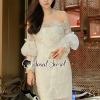 เสื้อผ้าแฟชั่นเกาหลีพร้อมส่ง Ladiest Princess Lace Dress