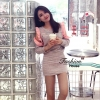 ชุดเดรสเกาหลีพร้อมสง Dress เรนโบว์เว้าไหล่เเต่งระบายๆ