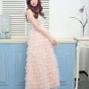 เสื้อผ้าเกาหลีพร้อมส่ง กระโปรงยาว Free Size ทำจากผ้ามุ้งเนื้อละเอียดเ