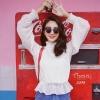 เสื้อผ้าเกาหลีพร้อมส่ง เสื้อผ้าชีฟองแต่งจุดนูนเป็นtextureในตัว