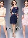 ชุดเดรสเกาหลี พร้อมส่งMini dress แขนยาวงานสวยงานปักและตัดเย็บเเน่นมากค่ะซับในเย็บติดผ้า