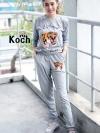 เสื้อผ้าเกาหลีพร้อมส่ง เซท2ชิ้นสกรีนลายที่เสื้อและกางเกง
