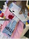 เสื้อผ้าเกาหลีพร้อมส่ง ผ้าพันคอลาย FLAMINGO (flamingo)