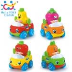 FH356A.Huile Toys ชุดเซ็ทรถผลไม้ 8 ชิ้น Friction Power Fruit Car ชุดเซ็ทรถผลไม้ สีสันสดใสสวยงาม